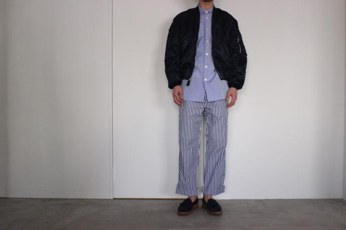 Vintage<br /> 94s L-2B Ground Crew Dead Stock <br /> SIZE / Medium<br /> Made in USA<br /> PRICE / 18.000+tax<br /> <br /> Phlannel<br /> Fine Poplin Big Pocket Shirt<br /> COLOR / White,Sax<br /> SIZE / M,L<br /> Made in Japan<br /> PRICE / 24.000+tax<br /> <br /> Phlannel<br /> Fine Poplin Work Trousers<br /> COLOR / Navy,Blue<br /> SIZE / M,L<br /> Made in Japan<br /> PRICE / 22.000+tax<br /> <br /> SANDERS<br /> Josh Tassel Loafer<br /> COLOR / Navy<br /> SIZE / 6H,7,7H,8<br /> Made in England<br /> PRICE / 54,000+tax<br /> <br /> <br />