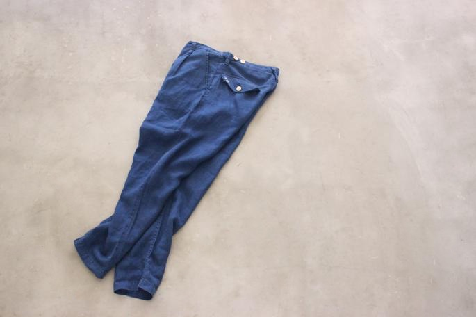 PORTER CLASSIC<br /> Summer Hickory Work Jacket<br /> COLOR / Blue<br /> SIZE / M<br /> Made in Japan<br /> PRICE / 48,000+tax<br /> <br /> PORTER CLASSIC<br /> Hand Work Indigo Linen Pants <br /> COLOR / Blue<br /> SIZE / S,M<br /> Made in Japan<br /> PRICE / 32,000+tax<br /> <br /> SANDERS<br /> PUNCHED CAP DERBY SHOE<br /> COLOR / Black<br /> SIZE / 6h,7h,8<br /> Made in England<br /> PRICE / 42,000+tax