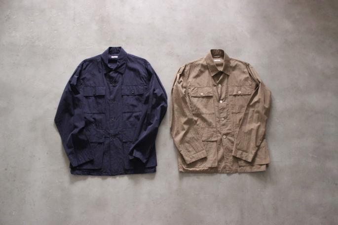 COMOLI<br /> Safari Shirt <br /> COLOR / Khaki,Navy<br /> SIZE / 1,2<br /> Made in Japan<br /> PRICE / 29,000+tax<br /> <br /> Phlannel<br /> High Dense West Point Trousers<br /> COLOR / Beige<br /> SIZE / S,M,L<br /> Made in Japan<br /> PRICE / 18,000+tax<br /> <br /> SANDERS<br /> Broad Arrow Apron Derrby Shoes<br /> COLOR / Black,Burgundy<br /> SIZE / 6H,7,7H,8<br /> Made in England<br /> PRICE / 44,000+tax