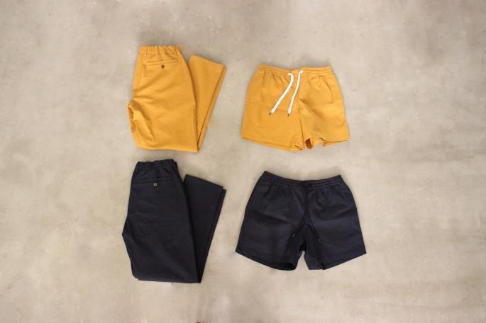 A Kind of Guise<br /> Thasos Blazer<br /> COLOR / Mustard,Navy<br /> SIZE / 46,48<br /> Made in Germany<br /> PRICE / 60,000+tax<br /> <br /> A Kind of Guise<br /> Easy Pants<br /> COLOR / Mustard,Navy<br /> SIZE / 46,48<br /> Made in Germany<br /> PRICE / 35,000+tax<br /> <br /> DE BONNE FACTURE<br /> French Polo Shirt<br /> COLOR / Navy<br /> SIZE / M,L<br /> Made in France<br /> PRICE / 24,000+tax<br /> <br />
