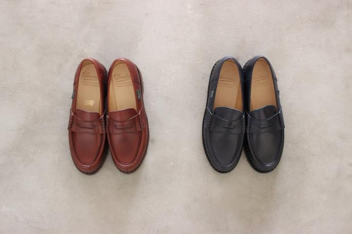 Paraboot<br /> Reims<br /> COLOR / Navy,Brown<br /> SIZE / 3.5 4 4.5 5<br /> Made in France<br /> PRICE / 63,000+tax