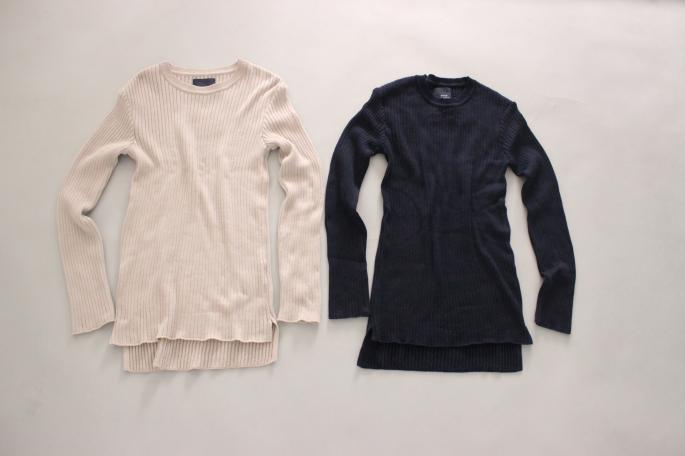 HEIGHT / 159㎝<br /> WEAR SIZE / 36<br /> <br /> SOSO PHANNEL<br /> Rib Knit Creu Neck<br /> COLOR / Navy,Baige<br /> SIZE / 36<br /> PRICE / 19,000+tax<br /> <br /> Rib Knit Skirt<br /> COLOR / Navy,Baige<br /> SIZE / 36<br /> PRICE / 19,000+tax<br /> <br /> Made In Japan<br />