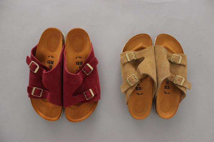 HEIGHT / 155cm<br /> WEAR SIZE / 0<br /> <br /> BIRKENSTOCK <br /> Zurich Narrow Suede Leather<br /> COLOR / Sand,Red<br /> SIZE / 36,37,38,39<br /> Made in Germany<br /> PRICE / 20,000+tax<br /> <br /> Phlannel<br /> West Point Wide Trousers<br /> COLOR / White,Beige<br /> SIZE / 0, 1<br /> Made In Japan<br /> PRICE / 19,000+tax