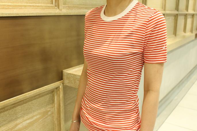 HEIGHT / 160cm<br /> WEAR SIZE / 36<br /> <br /> SOSO PHLANNEL<br /> Compact Border T-shirt<br /> COLOR / Navy,Red<br /> SIZE / 36<br /> Made ln Japan<br /> PRICE / 9,500+tax<br /> <br /> Phlannel<br /> Linen Twill Trousers<br /> COLOR / White,Black,Beige<br /> SIZE / 0,1<br /> Made In Japan<br /> PRICE / 24,000+tax<br /> <br /> Paraboot<br /> IBERIS<br /> COLOR / White,Navy<br /> SIZE / 3.5,4,4.5,5<br /> Made In France<br /> PRICE / 35,000+tax<br />