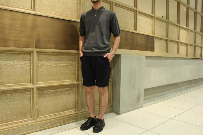 HEIGHT / 169cm<br /> WEAR SIZE / S<br /> <br /> JOHN SMEDLEY<br /> Isis<br /> COLOR / Charcoal,Black<br /> SIZE / S,M<br /> Made In England<br /> PRICE / 27,000+tax<br /> <br /> KENNETH FIELD<br /> Turn Up Shorts Jacquad<br /> COLOR / Navy<br /> SIZE / 28,30<br /> Made In Japan<br /> PRICE / 26,000+tax<br /> <br /> Paraboot<br /> Chambord<br /> COLOR / Black<br /> SIZE / 6.5,7,7.5<br /> Made In France<br /> PRICE / 65,000+tax