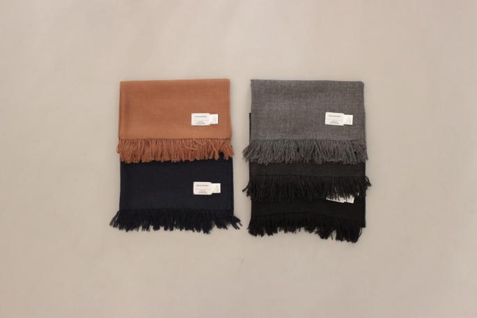 HEIGHT / 168cm<br /> WEAR SIZE /M<br /> <br /> THE INOUE BROTHERS<br /> Woven Stole<br /> COLOR / Black,Navy,Charcoal,Mid Grey Camel<br /> SIZE / F<br /> PRICE / 16,000+tax <br /> <br /> Crew Neck Pullover<br /> COLOR / Black,Blue<br /> SIZE / M,L<br /> PRICE / 46,000+tax <br /> <br /> Made In Denmark<br /> <br /> Phlannel<br /> Knitting Yarn Twill Two-tuck Trousers<br /> COLOR / Gray,Navy<br /> SIZE / S,M,L<br /> PRICE / 33,000+tax <br /> Made In Japan