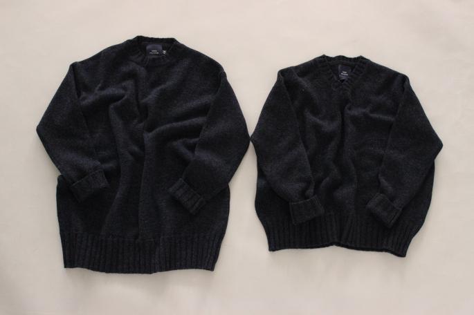 HIGHT / 155cm<br /> WEAR SIZE / 34<br /> <br /> SOSO PHLANNEL<br /> Big V neck Knit <br /> COLOR / Gray,Navy<br /> SIZE / 36<br /> PRICE / 29,000+tax<br /> <br /> Double Cloth Mat Satin Pants<br /> COLOR / Navy,Beige<br /> SIZE / 34,36<br /> PRICE / 26,000+tax<br /> <br /> Made In Japan<br /> <br /> KATIM<br /> BELLEVUE<br /> COLOR / Gray<br /> SIZE / 35.5 36 36.5 37 37.5<br /> Made In Japan<br /> PRICE / 45,000+tax