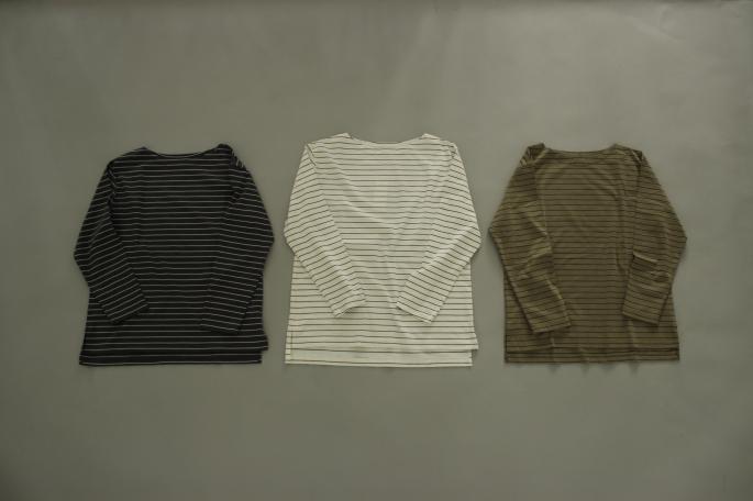 HIGHT / 159cm<br /> WEAR SIZE / 0<br /> <br /> Phlannel<br /> Super Fine Matelot Jersey T-Shirt <br /> COLOR / DarkGray×White,White×Navy,Khaki×Black<br /> SIZE / 0,1<br /> PRICE / 18,000+tax<br /> <br /> Li/Co Herringbone  Wide Trousers <br /> COLOR / Ecru,Walnut<br /> SIZE / 0,1<br /> PRICE / 36,000+tax<br /> <br /> Made In Japan<br />