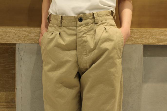 HIGHT / 164cm<br /> WEAR SIZE / 0<br /> <br /> OUTIL <br /> Pantalon Mets<br /> COLOR / Beige<br /> SIZE / 0<br /> PRICE / 20,000+tax<br /> <br /> Phlannel<br /> Suvin Cotton Pocket T-shirts<br /> COLOR / White,Navy,Black<br /> SIZE / 0,1,2<br /> PRICE / 8,500+tax<br /> <br /> Made In Japan<br /> <br /> MAISON VINTAGE<br /> 80S Celine Bag<br /> PRICE / 44,000+tax