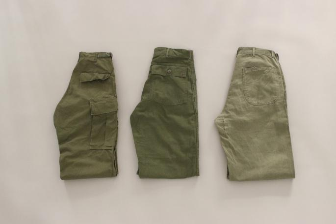 VINTAGE<br /> USMC P1941 HBD Trousers<br /> SIZE / W36,L32<br /> Made In USA<br /> PRICE / 15,000+tax<br /> <br /> HEINIRICH DINKELACKER<br /> Rio<br /> COLOR / Black<br /> SIZE / 6.5,7,7.5<br /> Made In Germany<br /> PRICE / 145,000+tax<br />