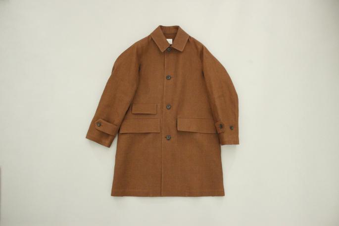 HIGHT / 173cm<br /> WEAR SIZE / S<br /> <br /> Phlannel<br /> Li/Co Herringbone Coat<br /> COLOR / Walnut<br /> SIZE / S,M,L<br /> PRICE / 76,000+tax<br /> <br /> Super Fine Matelot Jersey T-Shirt <br /> COLOR / White,Dark Gray,Khaki<br /> SIZE / S,M,L<br /> PRICE / 18,000+tax<br /> <br /> Made In Japan
