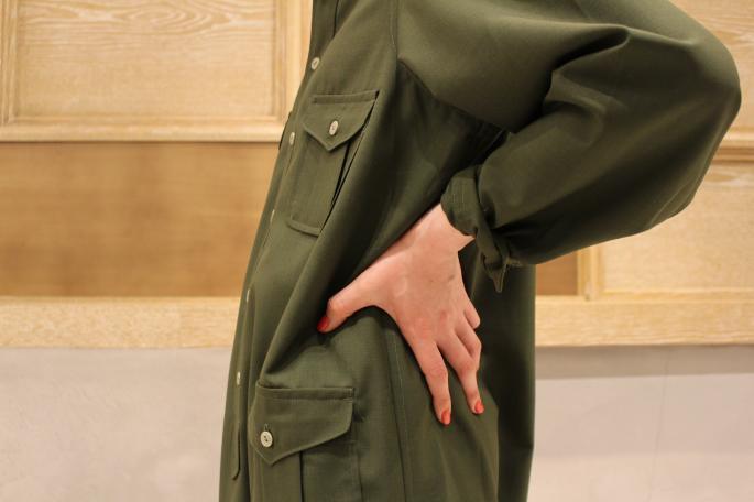 HIGHT / 164cm<br /> WEAR SIZE / 2<br /> <br /> Needles<br /> Military Shirt Dress<br /> COLOR / Olive,Navy<br /> SIZE / 2<br /> PRICE / 36,000+tax<br /> <br /> String Arrow EasyPant<br /> COLOR / Brown,Ourole<br /> SIZE / XS<br /> PRICE / 28,000+tax<br /> <br /> KATIM<br /> SCALA<br /> COLOR / Black<br /> SIZE / 35.5,36,36.5,37,37.5,38<br /> PRICE / 48,000+tax<br /> <br /> Made In Japan
