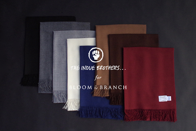 THE INOUE BROTHERS for BLOOM&BRANCH / Non Brushed Stole / 19.11.2 11:00- Release / COLLABORATION