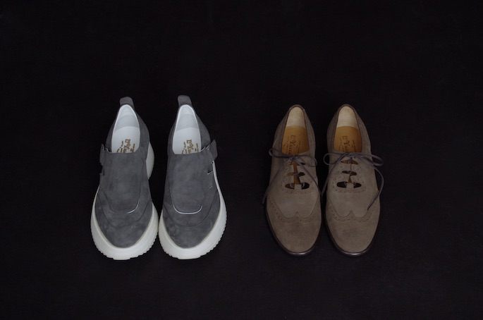 Le Yucca's Sneaker Exclusive 148,000+tax (left)<br /> Suede Ghillie Shoes Exclusive 118,000+tax (right)