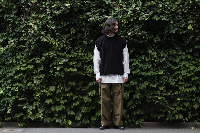 Phlannèl / Suvin Cotton Moss Stich Knit Vest / Ogawa