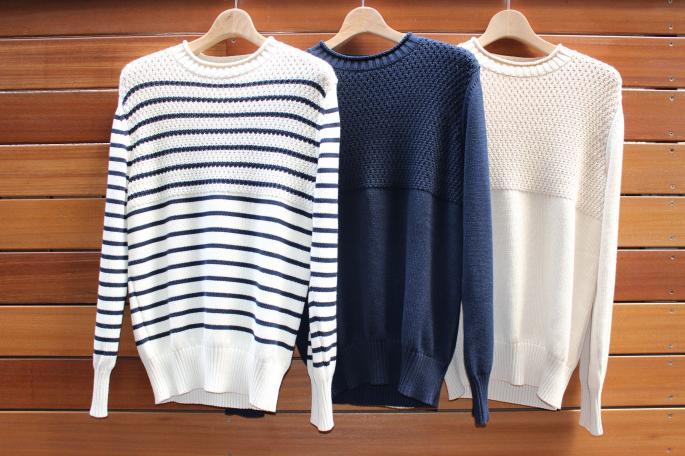 Phlannel<br /> Fisherman Knit<br /> COLOR / Border,Navy,Beige<br /> SIZE / S,M,L<br /> Made in Japan<br /> PRICE / 24,000+tax<br />