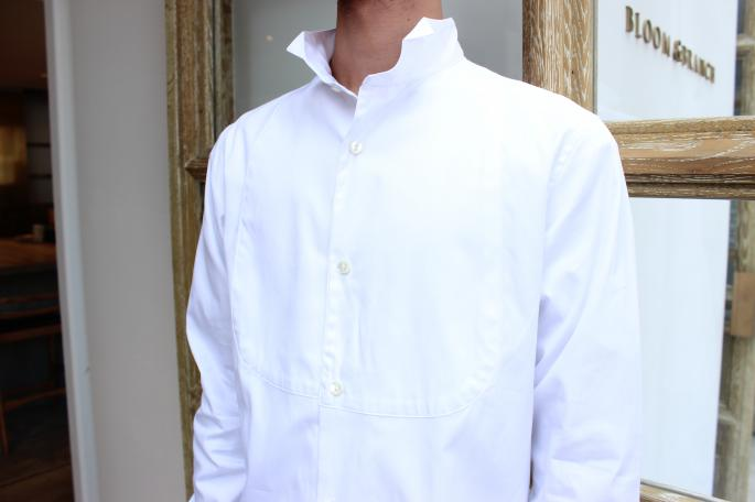 m's braque<br /> DICKY FRONT WING-COLLAR SHIRT <br /> COLOR / White ox,Shambray<br /> SIZE / 36,38,40<br /> Made in Japan<br /> PRICE / 23,000+tax