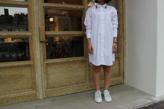 INDIVIDUALIZED SHIRTS ×BLOOM&BRANCH<br /> SHIRTS Dress<br /> COLOR / White<br /> SIZE / Free<br /> Made in U.S.A<br /> PRICE / 27,000+tax<br /> <br /> SIRISIRI<br /> Necklace<br /> COLOR / Glass<br /> SIZE / Free<br /> Made in Japan<br /> PRICE / 27,000+tax<br /> <br /> adidas <br /> Stan smith<br /> COLOR / Green.Navy<br /> SIZE / 23.5 24 24.5 25<br /> PRICE / 13,000+tax