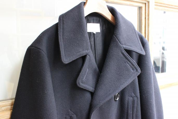 Phlannel<br /> Navy Melton Long Pea Coat<br /> COLOR / Navy<br /> SIZE / S,M,L<br /> Made in Japan<br /> PRICE / 74,000+tax