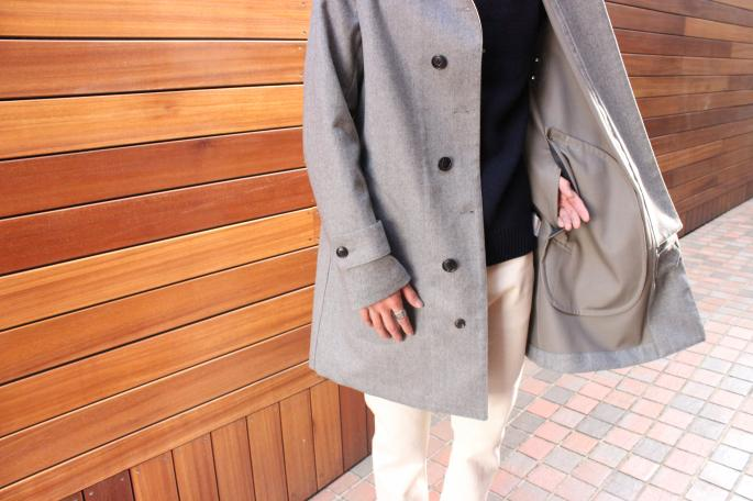 Phlannel <br /> Bonding Flannel Coat<br /> COLOR / Gray<br /> SIZE / M,L<br /> Made in Japan<br /> PRICE / 66,000+tax<br /> <br /> Phlannel<br /> Comeback Lamb Saddle Crew Neck<br /> COLOR / Natural,Gray,Navy<br /> SIZE / S,M,L<br /> Made in Japan<br /> PRICE / 19,000+tax<br /> <br /> COMOLI<br /> ECRU TWILL 5PKT PANTS <br /> COLOR / ECRU<br /> SIZE / 1.2<br /> PRICE / 18.000+tax<br /> <br />
