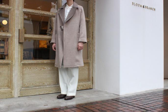 Phlannel<br /> Double Face Melton Motorcycle Coat<br /> COLOR / Beige<br /> SIZE / 0,1<br /> Made in Japan<br /> PRICE / 73,000+tax<br /> <br /> Phlannel<br /> Cotton Silk Plain Shirt<br /> COLOR / White<br /> SIZE / 0,1<br /> Made in Japan<br /> PRICE / 18,000+tax<br /> <br /> Phlannel<br /> Wide Trousers<br /> COLOR / White,Gray<br /> SIZE / 0,1,2<br /> Made in Japan<br /> PRICE / 24,000+tax