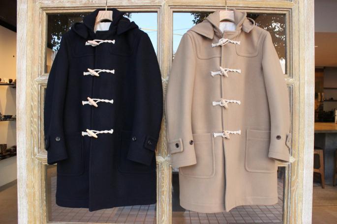 Phlannel<br /> Navy Melton Duffle Coat <br /> COLOR / Navy,Camel <br /> SIZE / M,L<br /> PRICE / 72,000+tax<br /> <br /> Phlannel<br /> Wool Cashmere Cable Turtle Neck <br /> COLOR / Navy、White<br /> SIZE / M,L<br /> PRICE / 42,000+tax<br /> <br /> Vintage<br /> Levi's<br /> 501 66前期<br /> PRICE / 16,000+tax<br /> <br /> Padmore&Barnes<br /> Original Shose<br /> COLOR / Terra<br /> SIZE / 7,8<br /> PRICE / 28.000+tax <br /> <br />