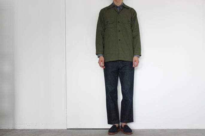 Vintage <br /> Vietnam Poplin Utility Shirt  Dead Stock<br /> COLOR / Olive<br /> SIZE / S<br /> Made in USA<br /> PRICE / 10,000+tax<br /> <br /> Phlannel<br /> Denim Trousers<br /> COLOR / Indigo<br /> SIZE /S,M,L<br /> Made in Japan<br /> PRICE / 22,000+tax<br /> <br /> Sanders<br /> Josh Tassel Loafer<br /> COLOR / Navy<br /> SIZE / 6H,7,7H,8<br /> Made in England<br /> PRICE / 54.000+tax<br /> <br />