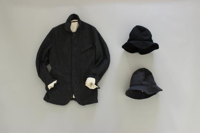 GARMENT REPRODUCTION OF WORKERS<br /> Gardeners Jacket<br /> COLOR / Black<br /> SIZE / 2.3<br /> PRICE / 44.000+tax <br /> <br /> Farmers Trousers<br /> COLOR / Black<br /> SIZE / 0.1<br /> PRICE / 34.000+tax <br /> <br /> Stand Farmer Shirt<br /> COLOR / White<br /> SIZE / 3.4<br /> PRICE / 24.000+tax <br /> <br /> Made in Japan