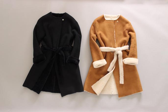 CINQUANTA<br /> Mouton Gawn Coat<br /> COLOR /Monolite<br /> SIZE / 36.38<br /> PRICE / 260,000+tax<br /> Made In Italy