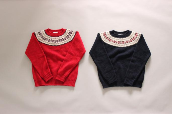 JAMIESON'S <br /> Nordic Sweater <br /> COLOR / Navy,Red<br /> SIZE / 38,40<br /> Made in Scotland<br /> PRICE / 29,000+tax