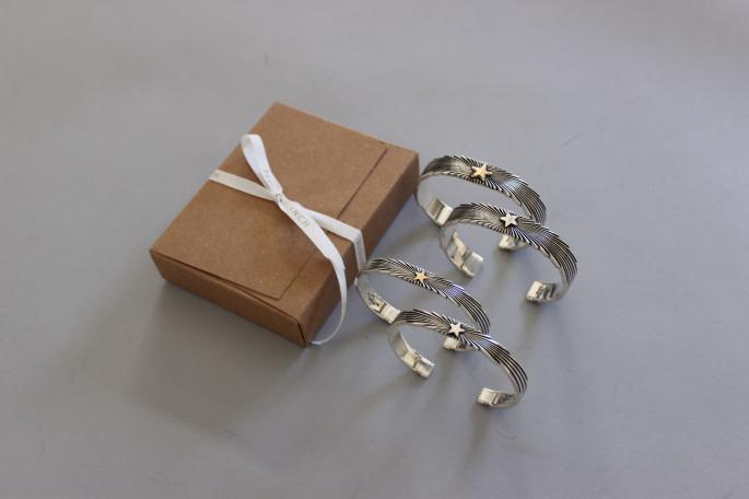 Patricia Bedonie <br /> 1/4 Starburst Silver Bracelet<br /> PRICE / 72,800+tax<br /> <br /> 1/4 Starburst 14k Bracelet<br /> PRICE / 79,800+tax<br /> <br /> 1/2 Starburst Silver Bracelet<br /> PRICE / 98,000+tax<br /> <br /> 1/2 Starburst 14k Bracelet<br /> PRICE / 108,000+tax<br /> <br /> Made in USA