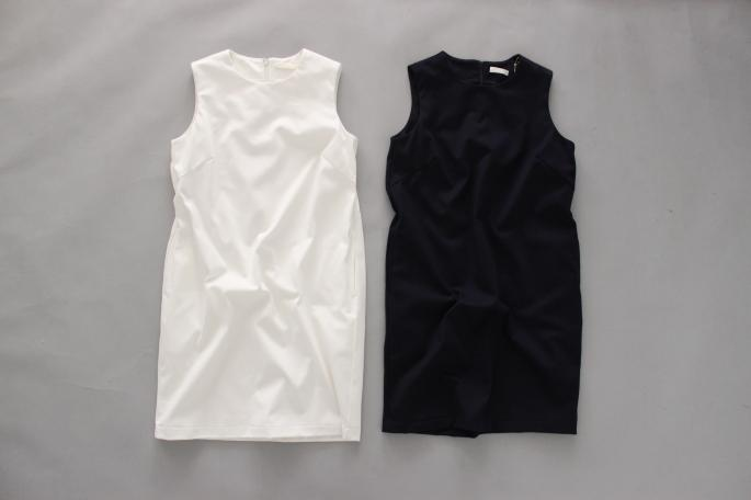 HEIGHT / 155cm<br /> WEAR SIZE / 0<br /> <br /> niuhans<br /> Heavy Weight Cotton Sleeveless One-piece<br /> COLOR / White,Navy<br /> SIZE / 0<br /> Made In Japan<br /> PRICE / 15,000+tax<br /> <br /> Paraboot<br /> IBERIS <br /> COLOR / White,Navy<br /> SIZE / 3.5,4,4.5,5<br /> Made In France<br /> PRICE / 35,000+tax
