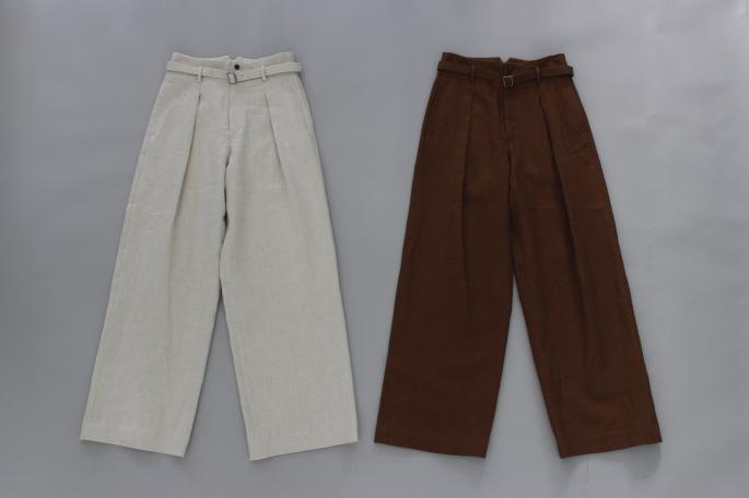 HIGHT / 155cm<br /> WEAR SIZE / 0<br /> <br /> Phlannel<br /> Li/Co Herringbone  Wide Trousers <br /> COLOR / Ecru,Walnut<br /> SIZE / 0,1<br /> Made In Japan<br /> PRICE / 36,000+tax<br /> <br /> VINTAGE<br /> The Big Favorite Denim Jacket<br /> COLOR / Indigo<br /> Made In USA<br /> PRICE / 18,000+tax<br /> <br /> forme<br /> Blucher Plain Toe<br /> COLOR / Black<br /> SIZE / 21/2,3,31/2,4<br /> Made In Japan<br /> PRICE / 58,000+tax