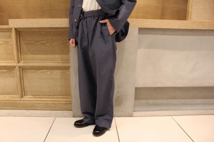 HIGHT / 168cm<br /> WEAR SIZE / M<br /> <br /> Phlannel<br /> Silk Ramie End on End Cardigan Jacket  <br /> COLOR / BlueGray<br /> SIZE / M,L<br /> PRICE / 48,000+tax<br /> <br /> Silk Ramie End on End Wide Trousers<br /> COLOR / BlueGray<br /> SIZE / M,L<br /> PRICE / 42,000+tax<br /> <br /> Made In Japan<br />