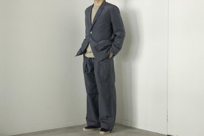 HIGHT / 168cm<br /> WEAR SIZE / M<br /> <br /> Phlannel<br /> Silk Ramie End on End Cardigan Jacket<br /> COLOR / Blue Gray<br /> SIZE / M,L<br /> PRICE / 48,000+tax<br /> <br /> Silk Ramie End on End Wide Trousers<br /> COLOR / Blue Gray<br /> SIZE / M,L<br /> PRICE / 42,000+tax<br /> <br /> Made In Japan<br /> <br /> HERUE<br /> AVAIOL<br /> COLOR / Black<br /> SIZE / 40,41,42<br /> Made In Spain<br /> PRICE / 31,500+tax