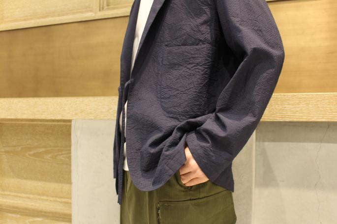 HIGHT / 164cm<br /> WEAR SIZE / S<br /> <br /> Phlannel<br /> CO/Si Seersucker String Jacket<br /> COLOR / Navy,Khaki<br /> SIZE / S,M,L<br /> PRICE / 44,000+tax<br /> <br /> Suvin Cotton Pocket T-shirt<br /> COLOR / White,Gray,Navy<br /> SIZE / S,M,L<br /> PRICE / 9,500+tax<br /> <br /> Made In Japan<br /> <br /> Vintage<br /> French Military Later M-47 Cargo Pants Dead Stock<br /> SIZE / 11<br /> Made In France<br /> PRICE / 19,000+tax<br /> <br /> NORTH SEA CLOTHING<br /> The Marine Slip On<br /> COLOR / Ecru,Navy<br /> SIZE / 41,42,43<br /> PRICE / 13,000+tax