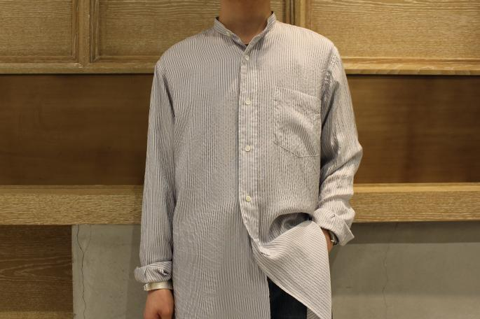 HIGHT / 164cm<br /> WEAR SIZE / 1<br /> <br /> COMOLI<br /> Silk Band Collar Shirts <br /> COLOR / Stripe<br /> SIZE / 1,2<br /> Made In Japan<br /> PRICE / 28,000+tax<br /> <br /> VINTAGE<br /> LEVI'S 501 XX <br /> SIZE / W33,L30<br /> Made In USA<br /> PRICE / 178,000+tax<br /> <br /> forme<br /> Whole Cut Shoes 4 Hole<br /> COLOR / Brown<br /> SIZE / 5,5 1/2,6, 6 1/2<br /> Made In Japan<br /> PRICE / 68,000+tax