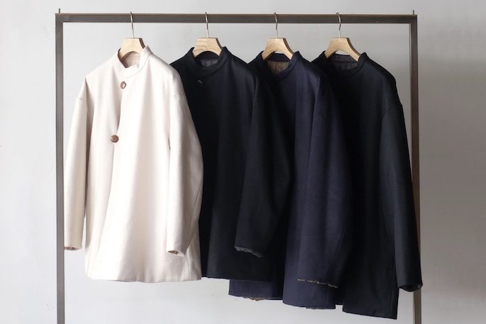 WOOL×QUILTING REVERSIBLE HALF COAT<br />